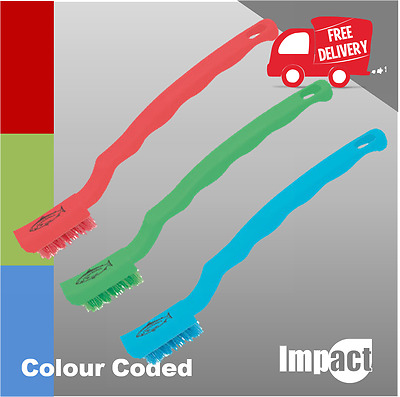 DETAIL BRUSH red green or blue NICHE ideal for cleaning difficult to access area