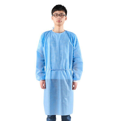 5pcs Disposable Isolation Gowns Protective Surgical Gowns Doctor Nurse Workwear