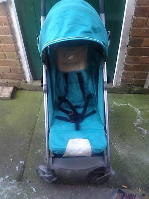 Joie Brisk Pushchair . Jade/teal Colour With Raincover