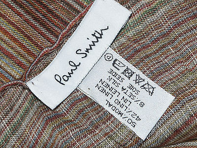 PAUL SMITH MULTISTRIPE SIGNATURE LIGHTWEIGHT MULTICOLOURED SCARF made in Italy