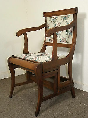 Regency Style Metamorphic Library Chair Steps Free Delivery In 100 Mls Of Perth