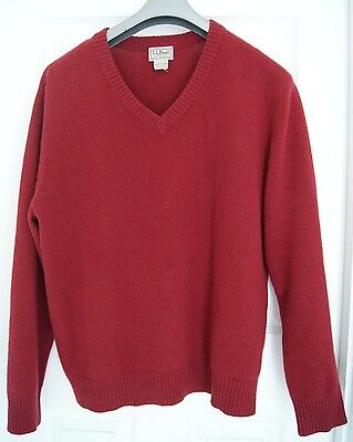 L.L. BEAN Men's 100% Cashmere Sweater L V-Neck