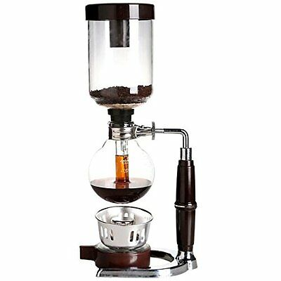 New 5 Cup Siphon / Syphon Vacuum Glass Coffee Maker Stove Top Coffee Brew Pot