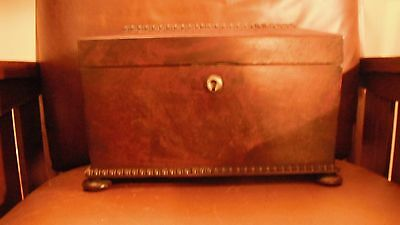 Large and Lovely Antique Mahogany  Box with  Key