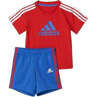 adidas boys baby/infant 3 stripe County shorts & top set. Summer set. Ages 0-4Y