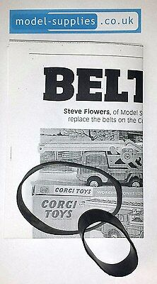 Corgi GS64A FC Jeep Conveyor Reproduction Black Rubber Belt Set & Instructions