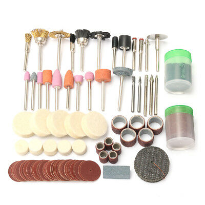150pc Rotary Tool Accessory Bits Kit For Dremel Grinding Hobby Drill Tool + Case