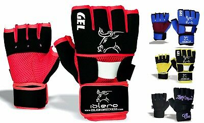 Evo Fitness Gel Gloves MMA Boxing Grappling Neoprene Wrist Support wraps Straps