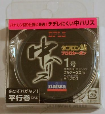 DAIWA Toughron Fluorocarbon Leader #1 (4lb) 30m Made in Japan for Freshwater Fis