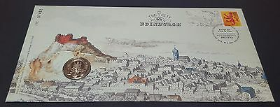 2011 The City of Edinburgh One Pound Coin Cover