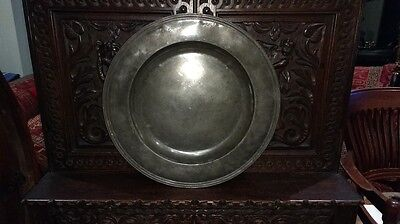 """Antique Pewter Charger 18.25"""""""