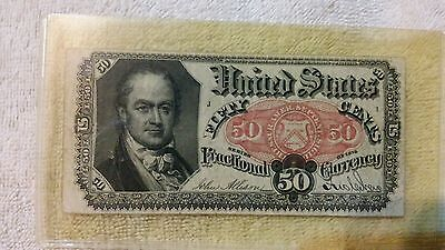 Series 1875 Fractional Currency 50 Cent Note Paper Money