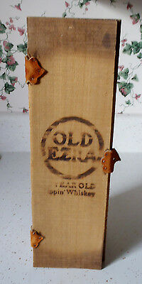 Ezra Brooks OLD EZRA Sipping Whiskey BOX ONLY Leather Straps