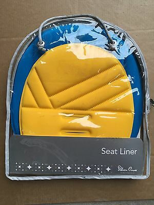 Silver Cross Reversible Seat Liner Blue Yellow Baby New