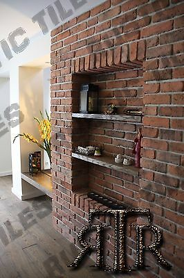 brick slips cladding wall tiles old featured wall rustic tiles  GHOTIC
