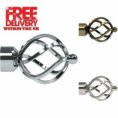 Speedy Pristine Poles Apart 25mm-28mm End Cage Finials, 2 Pack(1 Pair)