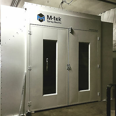 New Semi Down Draft Paint Spray Booth 27 Ft Long Free Shipping!!!