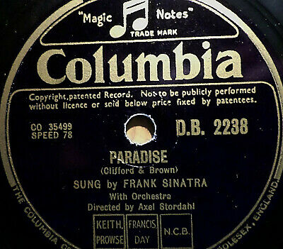 "FRANK SINATRA ""I Fall In Love With You Ev'ry Day / Paradise"" Columbia 78rpm 10"""
