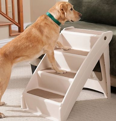Pet Stairs Step Ramp Bed Help Cat Dog Pup Puppy Climb Ladder Plus Extra Large XL