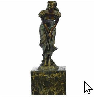 Bronze Sculpture Vintage Bookend Art Deco Signed Art Statue Figurine