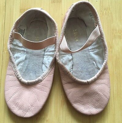 Little Girl Bloch Leather Pink Ballet Slippers in Size 11.5C