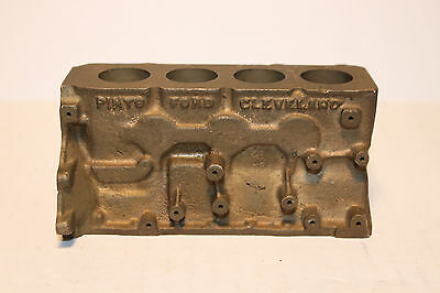 Vintage Ford Engine Block Paperweight Ford Pinto Cleveland