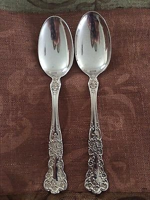 Two (2) Gorham BUTTERCUP Sterling Silver teaspoons Old Mark no mono