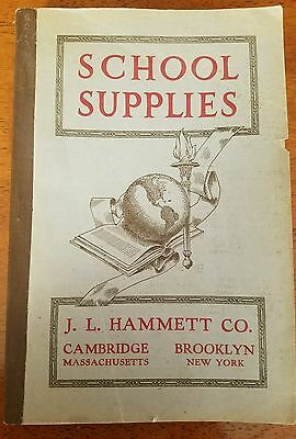 1920's School Supply Catalog #21 J. L. Hammett
