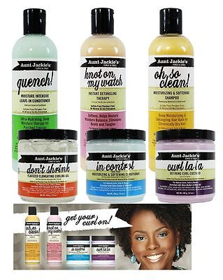 Aunt Jackie's Curls & Coils Hair Care Moisturising,softening Products With Shea