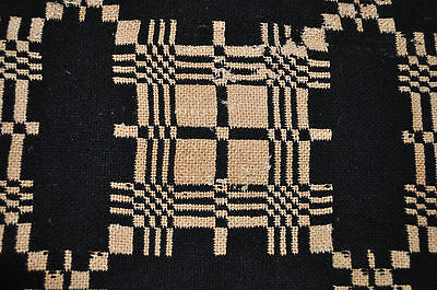 Antique 19Th Century American Double-Weave Coverlet