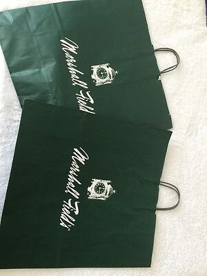 Marshall Field's department store shopping bags – set of 2