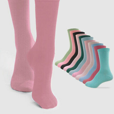 Women's 6 Pair Pack Crew Socks for Dress or Everyday Wear with 12 Color Options