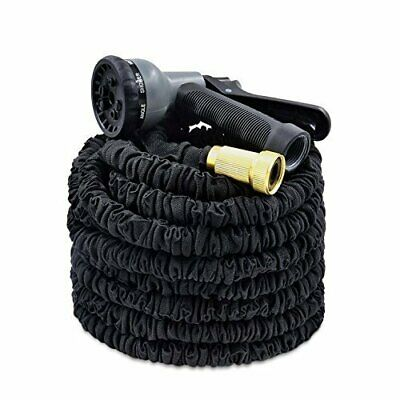 New Expandable Flexible Garden Hose Pipe Expanding Fittings + Spray Gun 3 Sizes