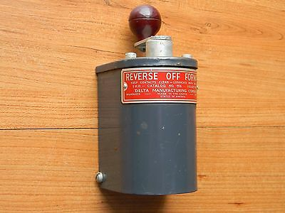 Delta reversing switch Cat# 1116 110-220 volts 1 H.P. Made in Milwaukee, WI