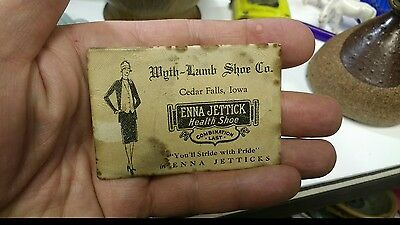 Old Advertising Pocket Mirror Wyth-Lamb Shoe Co. Cedar Falls Waterloo Iowa