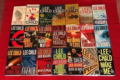 LOT of 15 JACK REACHER MYSTERIES by LEE CHILD, Make Me, Personal, One False Move