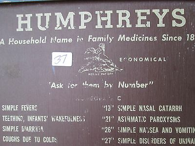 Antique Humphreys Homeopathic Counter Display Case