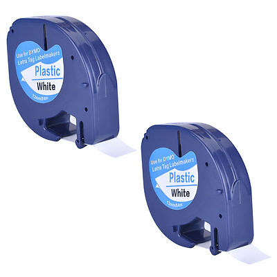 2PK Compatible DYMO LetraTag LT-100T LT-110T Label Tape Refill US shipping