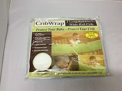 Crib Wrap 1 Long Rail Cover for Wide Rail to Protect Crib From Teeth Marks Baby