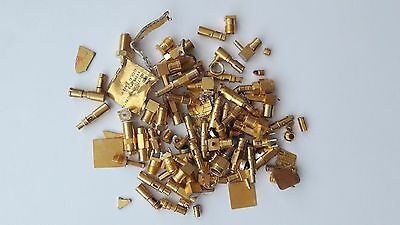 130 Grams Gold Scrap Recovery Military Plated High Yield Pins