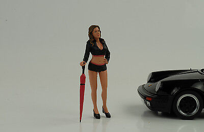 Cool Grid Girl II + Umbrella Figurine Racing 1:18 AMERICAN DIORAMA NO CAR
