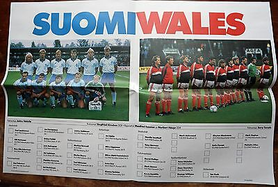 Finland v Wales 1989 World Cup qualifier programme