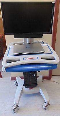 Rubbermaid Medical Solutions Mobile Medical Cart 1854485 W/ Dell Labtop ~ MR35