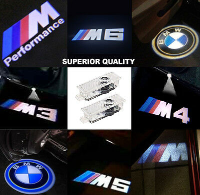 2x BMW CREE LED PROJECTOR CAR DOOR LIGHTS SHADOW PUDDLE COURTESY LASER LOGO