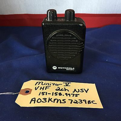 Motorola Minitor V (5) VHF 151-158.9975 MHz 2 channel NSV Pager A03KMS7239BC