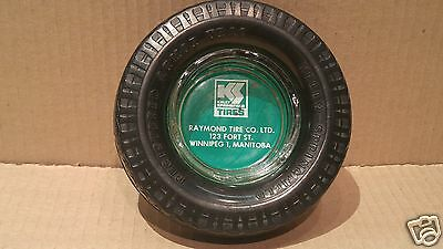 Vintage KELLY Tire Advertising Tire Ashtray - Glass Insert w/Rubber Tire #14