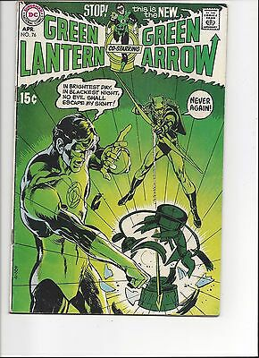 Green Lantern Green arrow #76 1st Cross-Over, Neil Adams Art! 5.5 FN+