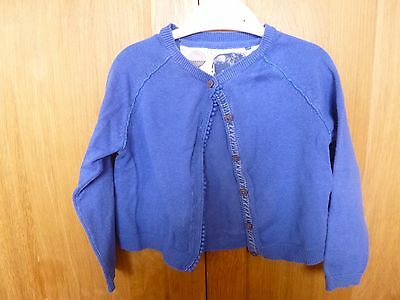 Girls blue cardigan Next 3-4 years