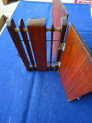 A Very Fine And Rare Early Vintage Mahogany Fishing Float Winder With Sides