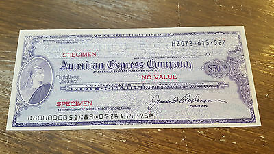 American Express Company - Travelers Cheque 50 Dollars Specimen